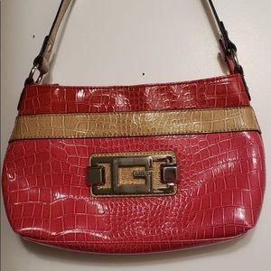 GUESS Strawberry Red & Beige Shoulder Bag